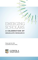 Program cover for 2018 Emerging Scholars Celebration of Research