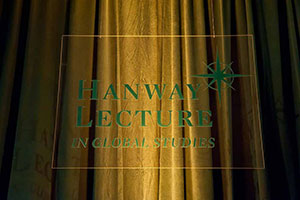 Sign for the Hanway Lecture in Global Studies
