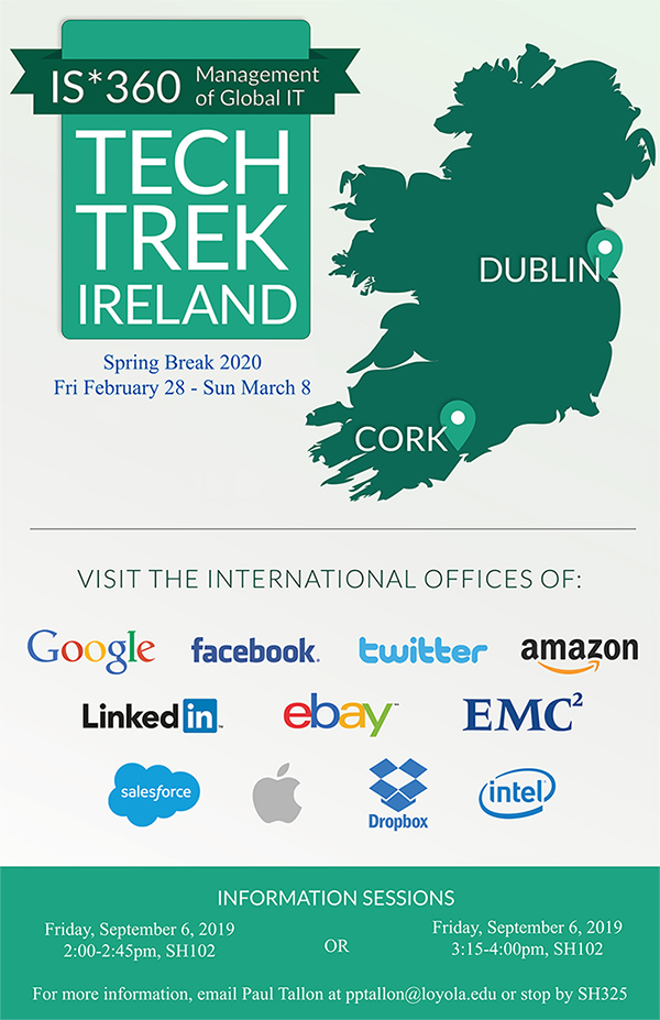 Tech Trek Ireland map and dates