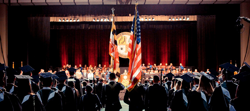 ROTC members at Loyola's commencement