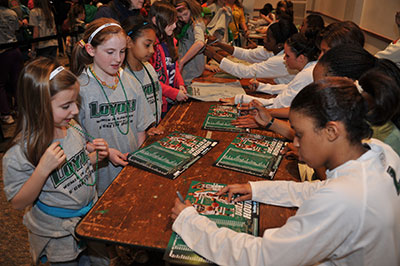 Autograph signings at Women in Sports Day