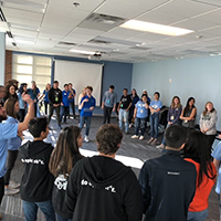 Large circle activity at JMU University Innovation Fellows meetup