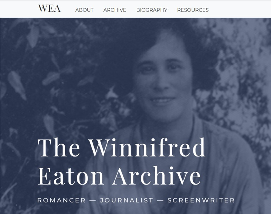 Winnifred Eaton Archive screenshot