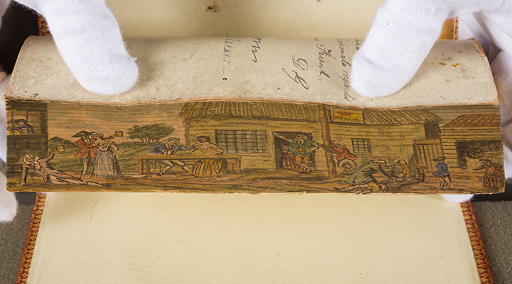 Fore-edge painted book