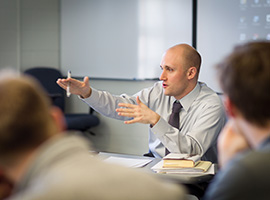 Alan Brown, Ph.D., assistant professor of English education at Wake Forest University, teaching