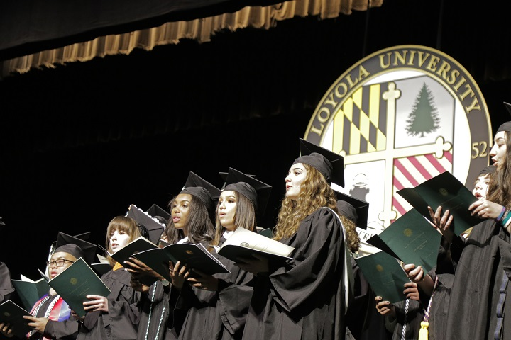 Vocal ensemble sings at Commencement