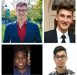Four Clinton Scholarship winners