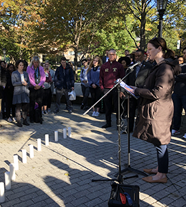Stop the hatred prayer on Oct. 30, 2018, on the Academic Quadrangle, Evergreen campus