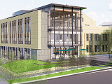 A rendering of the future Fernandez Center for Innovation and Collaborative Learning