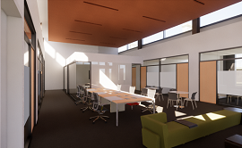 The rendering of the Hanway Academic Loft in the new Fernandez Center