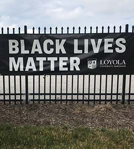 Black Lives Matter Banner 5104 York Road
