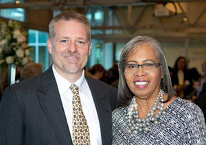 Dean Joshua Smith with speaker Gloria Ladson-Billings