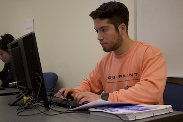 Loyola student prepares for tax clinic service