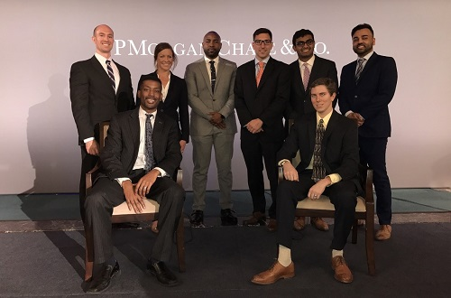 Loyola graduate business students attend the JPMorgan Chase shareholder letter town hall