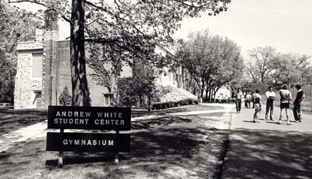 Andrew White Student Center in 1978