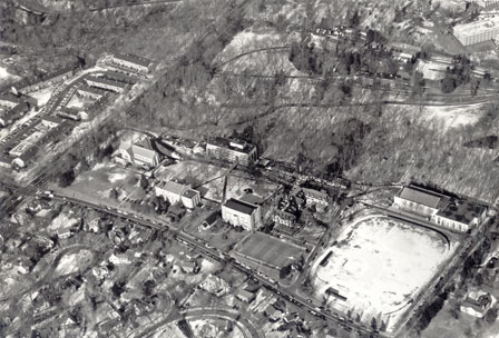Aerial View of Loyola in the 1970s