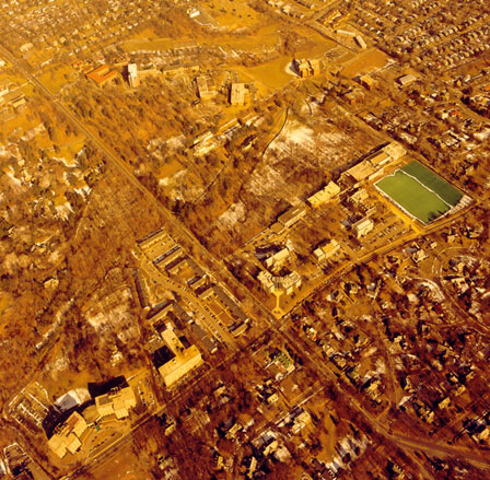 Aerial View of Loyola in 1988