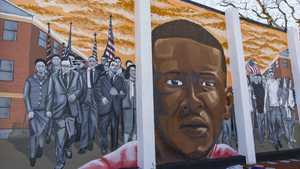 Photo of a Mural featuring Freddie Gray