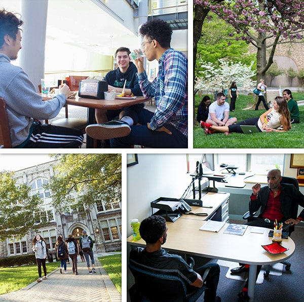 Collage of students experiencing life at loyola.