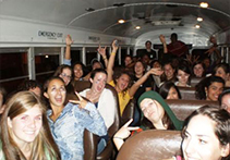 Students in a bus