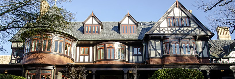 Father Linnane with students