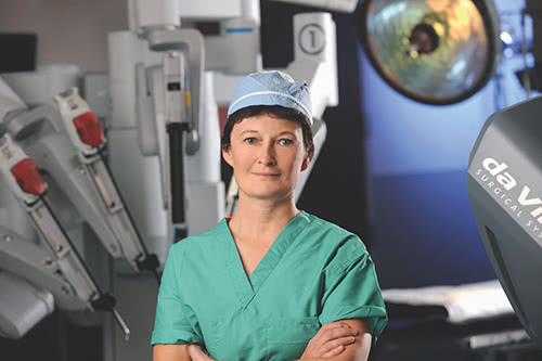 Dr. Lisa Savoie in Robotic Operating Room